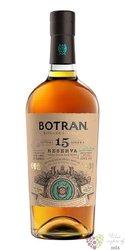 """Botran """" Sistema 15 Solera Reserva """" rel. 2020 aged rum of Guatemala 40% vol.  0.70 l"""