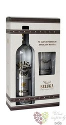 Beluga glass set noble Russian vodka 40% vol.   1.00 l