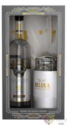 """Beluga noble """" Caviar set """" Russian vodka 40% vol. 0.70 l"""