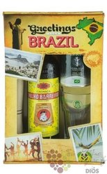 "Velho Barreiro "" Traditional "" gift set Brasilian cachaca 39% vol.  0.70 l"