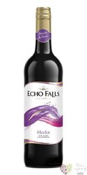 "Merlot "" Echo Falls  "" 2012 San Joaquin valley Ava Mission Bell winery  0.75 l"