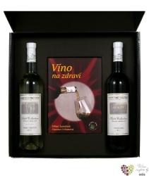 Kartonová krabička černá 2 x 0.75 l s motivem vinařstí Vs Valtice