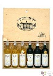 Dřevěná kazeta s výsuvným čelem 6 x 0.75 l  s motivem vinařstí Vs Valtice