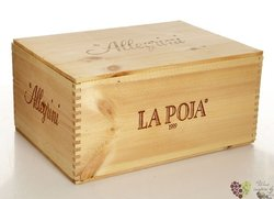 "The collection "" La Poja 03 + 04 + 06 "" luxury wood box by agricola Allegrini 3x 0.75 l"