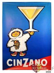 "Cinzano "" Bianco "" glass pack Italian classic flavours vermouth by Gruppo Campari 15% vol.   1.00 l"