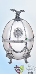 "Carskaja Imperial collection "" Silver egg by Carl Fabergé "" Russian vodka 40% vol.    0.70 l"