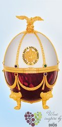 "Carskaja Imperial collection "" Pearl & Ruby egg by Carl Fabergé "" Russian vodka40%vol.   0.70 l"