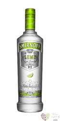 "Smirnoff "" Lime "" premium flavored Russian vodka 37.5% vol.   1.00 l"