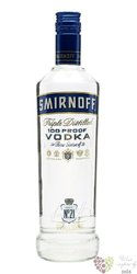 "Smirnoff "" Blue no. 57 "" triple distilled premium Russian vodka 50% vol.   0.50l"