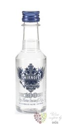 "Smirnoff "" Blue no. 57 "" triple distilled premium Russian vodka 50% vol.   0.05l"