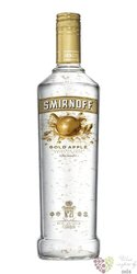"Smirnoff "" Gold apple "" triple distilled flavored Russian vodka 37.5% vol.   1.00 l"