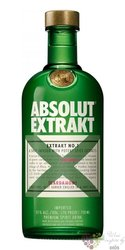 "Absolut Extrakt "" no.1 "" country of Sweden Superb vodka 35% vol.  0.70 l"