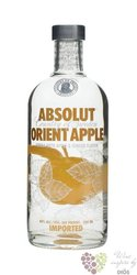 "Absolut "" Orient apple "" flavored country of Sweden Superb vodka 40% vol.    1.00 l"