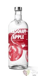 "Absolut flavor "" Apple "" country of Sweden Superb vodka 40% vol.    1.00 l"