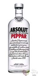 "Absolut "" Peppar "" flavored country of Sweden superb vodka 40% vol.    0.75 l"