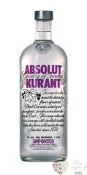 "Absolut "" Kurant "" flavored country of Sweden Superb vodka 40% vol.    0.50 l"