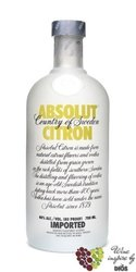 "Absolut flavor "" Citron "" country of Sweden Superb vodka 40% vol.  1.75 l"