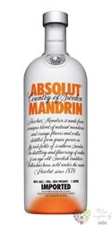 "Absolut flavor "" Mandrin "" country of Sweden superb vodka 40% vol.  1.00 l"