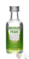 "Absolut "" Pears "" flavored country of Sweden Superb vodka 40% vol.    0.05 l"