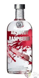 "Absolut flavor "" Raspberri "" country of Sweden Superb vodka 40% vol.  1.00 l"