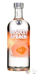 "Absolut flavor "" Apeach "" country of Sweden superb vodka 40% vol.  1.00 l"