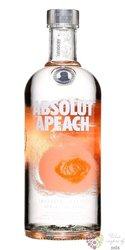 "Absolut flavor "" Apeach "" country of Sweden superb vodka 40% vol.  0.70 l"
