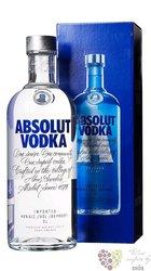 """Absolut """" Blue """" country of Sweden superb vodka 40% vol.  3.00 l"""