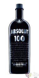 "Absolut "" 100 "" country of Sweden superb strong vodka 50% vol.  1.00 l"