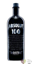 "Absolut "" 100 "" country of Sweden superb strong vodka 50% vol.  0.70 l"