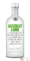 "Absolut flavor "" Lime "" country of Sweden superb vodka 40% vol.  0.70 l"