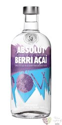 "Absolut flavor "" Berri Acai "" country of Sweden Superb vodka 40% vol.   1.00 l"