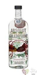 """Absolut flavor """" Grapevine """" country of Sweden Superb vodka 40% vol.  1.00 l"""