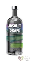 "Absolut "" Grape "" flavored country of Sweden Superb vodka 40% vol.    1.00 l"