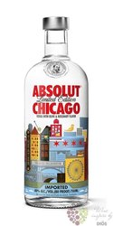 "Absolut city "" Chicago "" country of Sweden superb vodka 40% vol.   0.70 l"