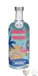 "Absolut city "" Miami "" country of Sweden superb vodka 40% vol.   0.70 l"