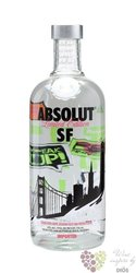 "Absolut city "" San Francisco "" country of Sweden superb vodka 40% vol.   0.70 l"