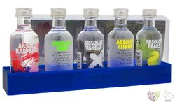 "Absolut "" Five "" set of the Country of Sweden superb vodka  5 x 0.05 l"