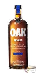 """Absolut aged """" Oak"""" country of Sweden superb vodka 40% vol.  1.00 l"""
