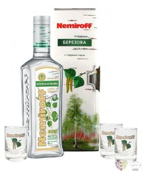 "Nemiroff "" Birch buds "" glass set flavored  Russian vodka 40% vol.  0.70 l"