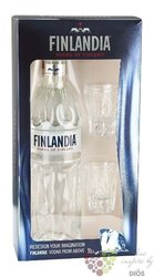 Finlandia 2glass pack original vodka of Finland 40% vol.    0.70 l