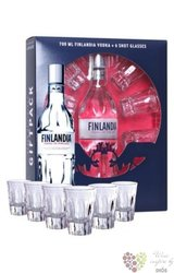 Finlandia 6glass pack original vodka of Finland 40% vol.    0.70 l