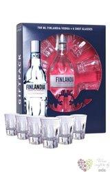 Finlandia 6glass pack original vodka of Finland 40% vol.    0.70 l