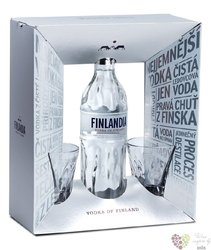 Finlandia 2glass pack ed. 2017 original vodka of Finland 40% vol.  0.70 l
