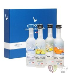 Grey Goose ultra premium French flavored vodka 5 x 0.05 l
