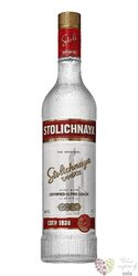 "Stolichnaya "" Original red "" premium Russian plain vodka 40% vol.  1.00 l"