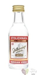 "Stolichnaya "" Original red "" premium Russian plain vodka 40% vol.  0.05 l"