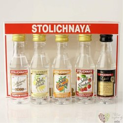 "Stolichnaya "" mini bar "" collection premium Russian vodka 5 x 0.05 l"