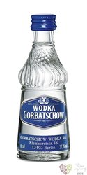 "Gorbatschow "" Blue "" premium German vodka 37.5 % vol.  0.05 l"
