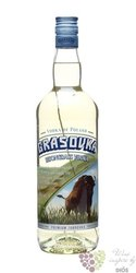 Grasovka Bison brand premium vodka Zubrovka of Poland 40% vol.    1.00 l
