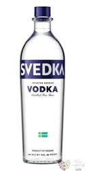 Svedka five times distilled Swedish vodka 40% vol.  1.00 l